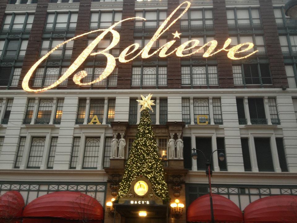 new york city macys believe