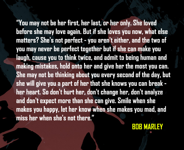 Bob Marley Quotes About Love Inspiration Bob Marley Quotes Picture Quote On Love