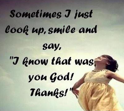I know that was you God Thanks