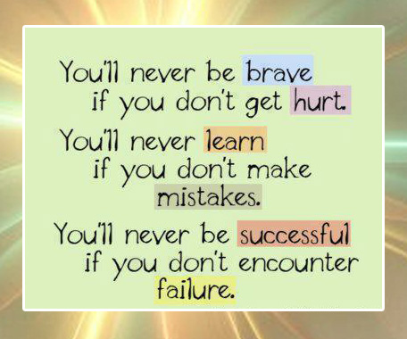 Quotes On Life Youl Never Be Brave If You Dont Get Hurt