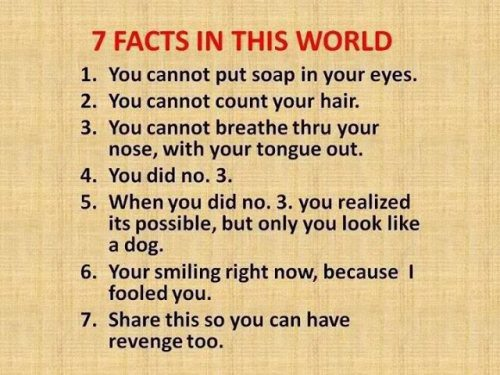 7 science facts