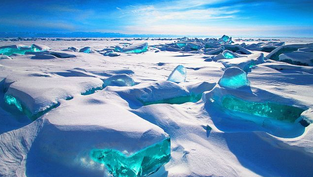 turquoise ice russia