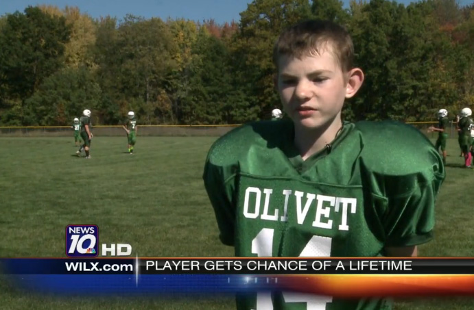 olivet special needs student scores touchdown