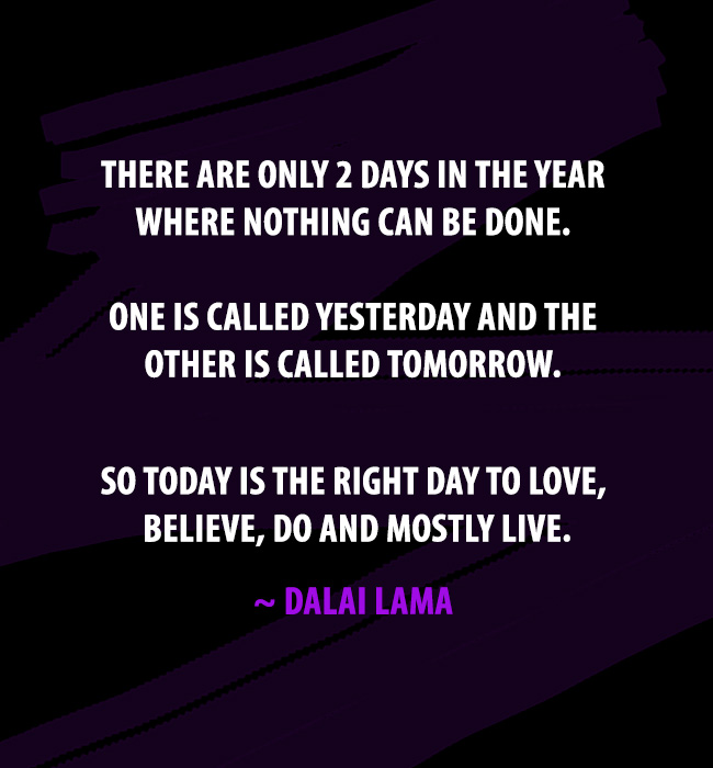 dalai lama quotes two days in a year