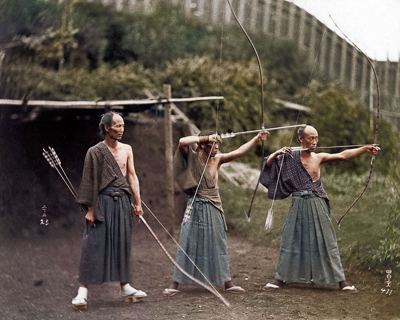 colored historical photo