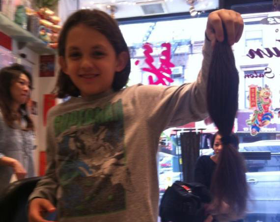 colin donates hair to kids with cancer