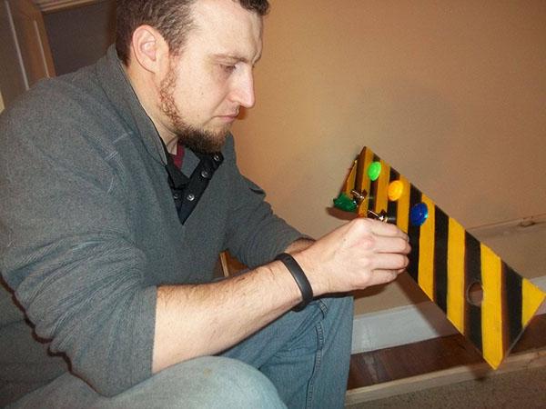 dad builds spaceship
