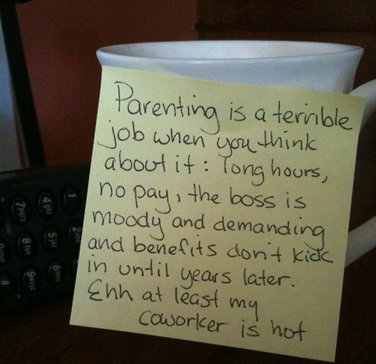bored dad post it notes