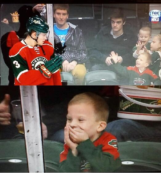 hockey player made this young fans day
