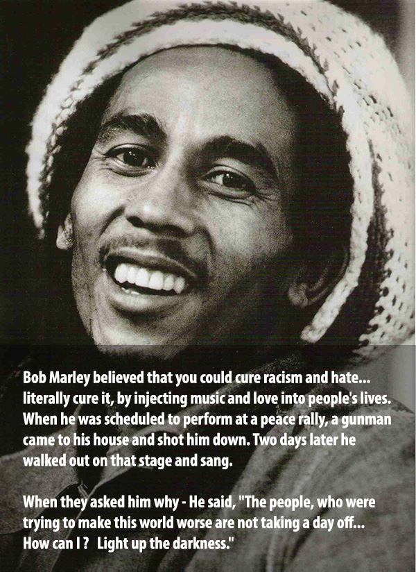 Bob Marley quotes on life after being shot