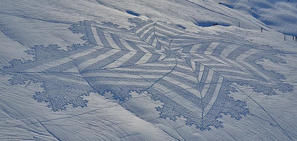 snow art simon beck