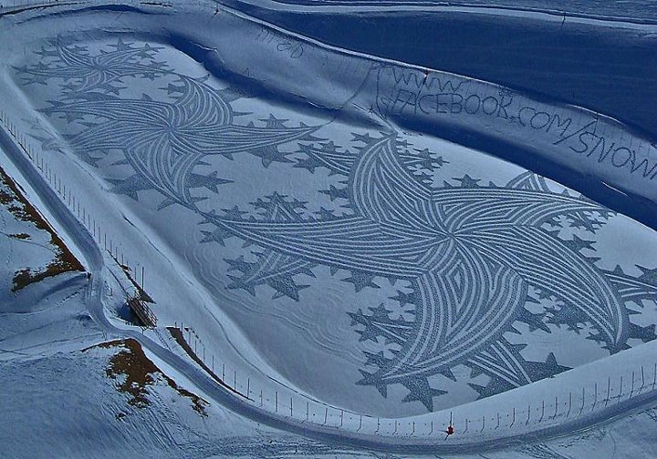 snow art simon beck