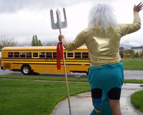 dad school bus costumes