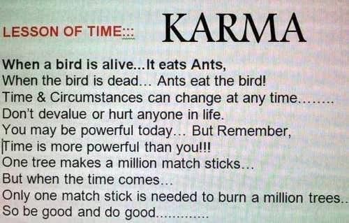 karma be good do good