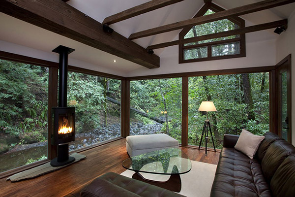 awesome cabin in woods