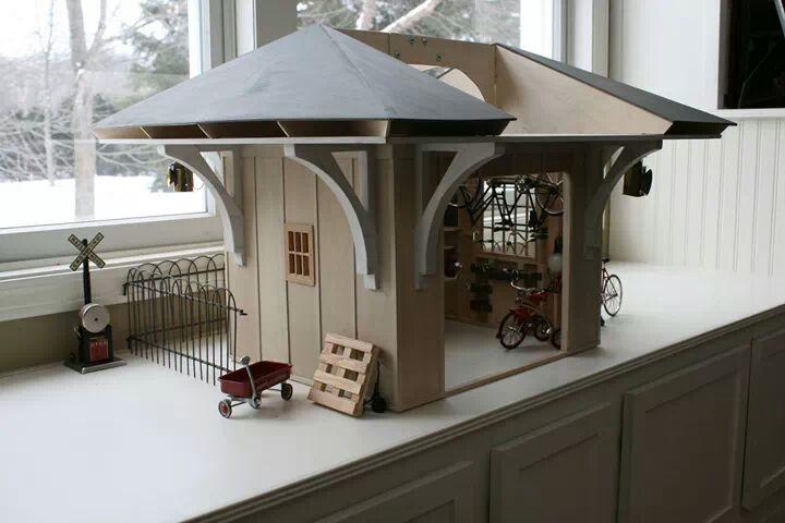 mini bike shop dollhouse