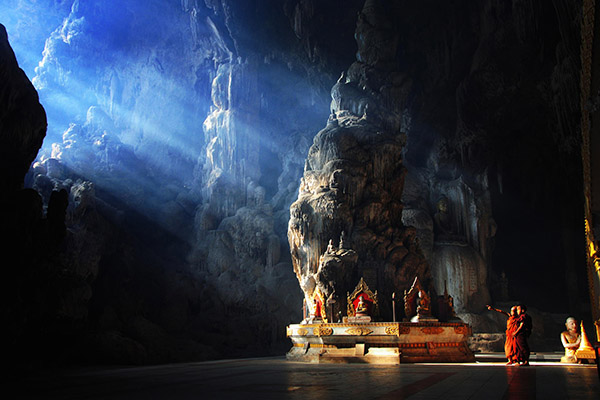Buddhist temple inside cave