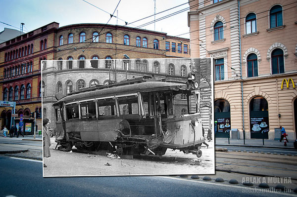 past and present photos in one