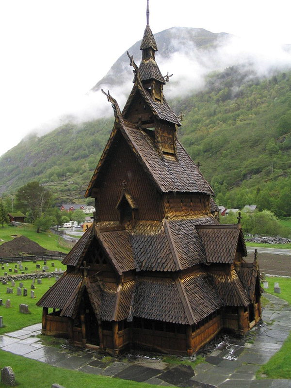 The Borgund Stave Church Norway