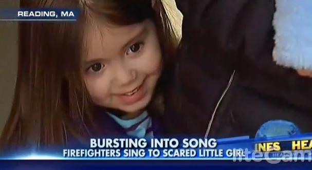 firefighters sing frozen