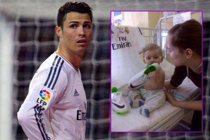 ronaldo pays for baby surgery