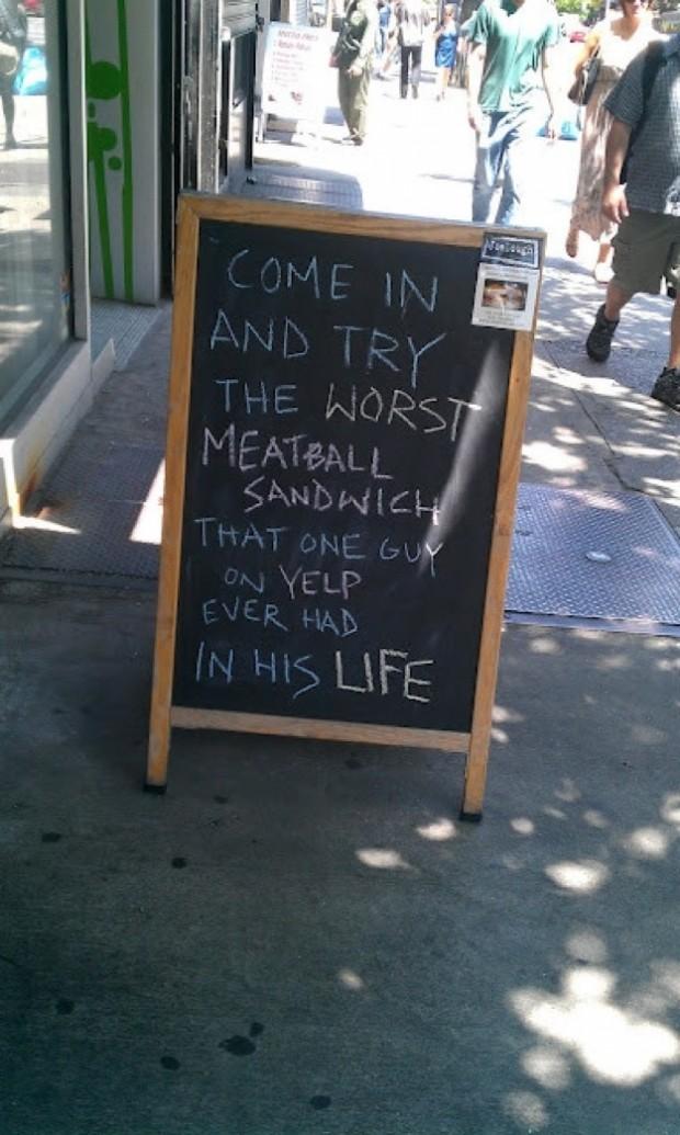 funny sidewalk signs