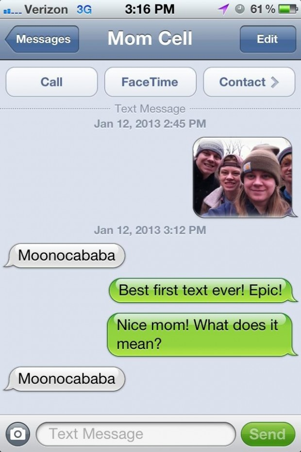 The 27 funniest text messages between parents and their for Rofl meaning in text
