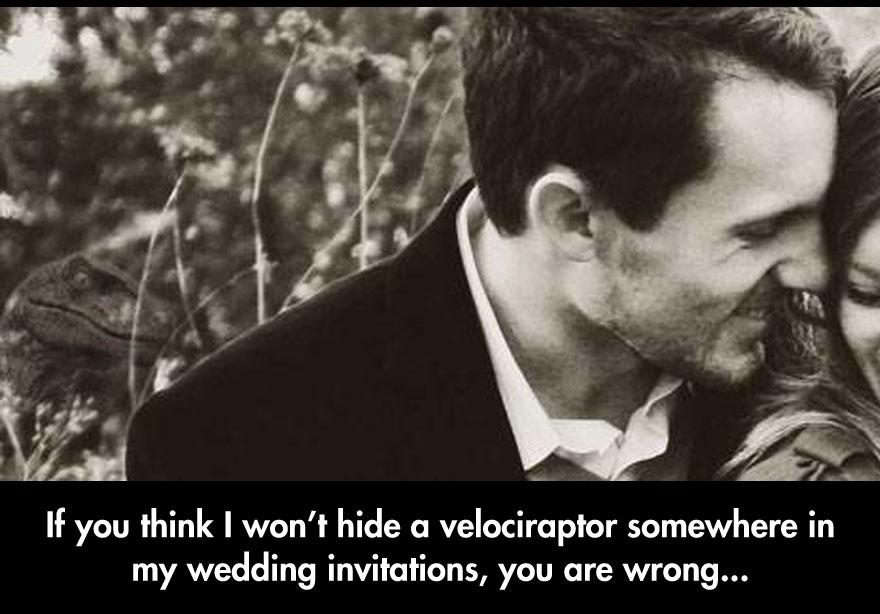 wedding invite raptor