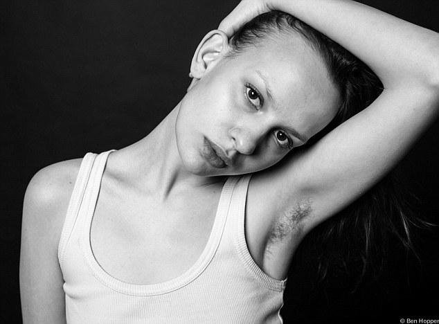women body hair models