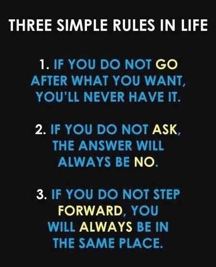 3 rules in life