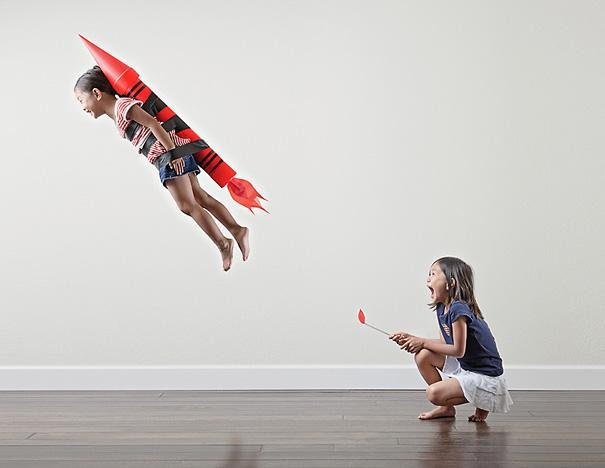 dad takes fun pictures of daughters