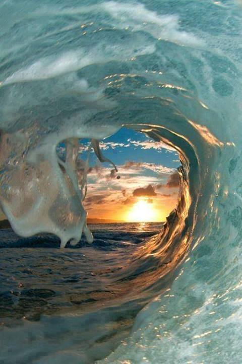 wave sunset