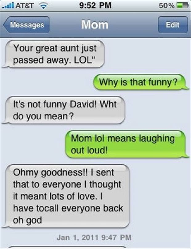 funniest texts parents kids