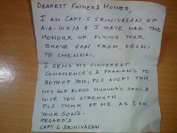 letter from pilot