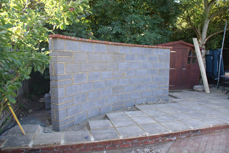 They Have This Free Standing Wall In The Garden What They