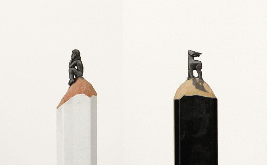 crayon art carvings