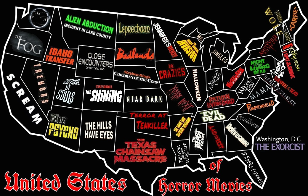 horror movie map US