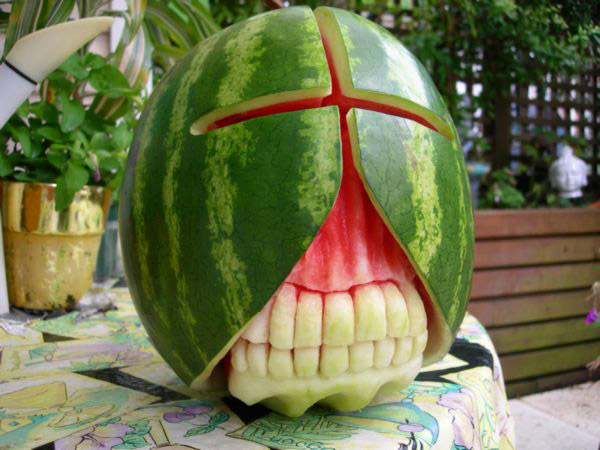 Anyone Can Carve Pumpkins Check Out This Guy S Watermelons