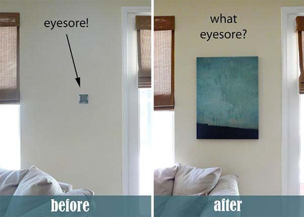 how to hide ugly stuff in house