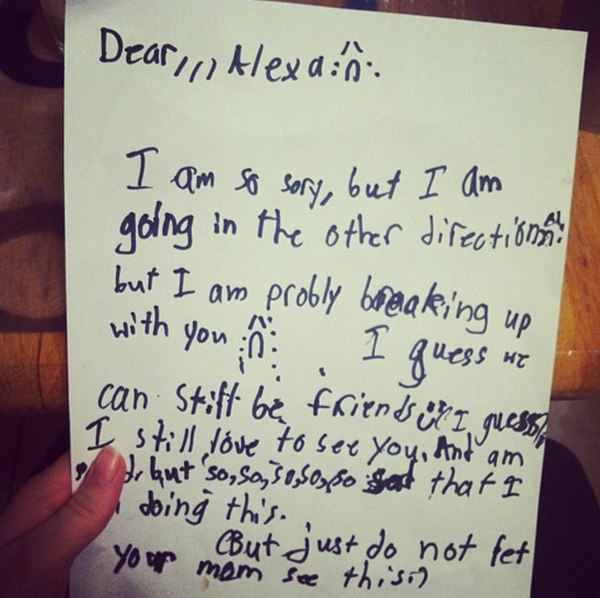 Children'S Breakup Letters Prove How Cruel Kids Can Be - Happy One