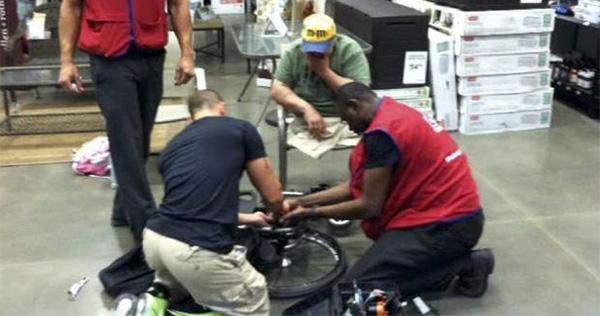 Loews workers help Vet