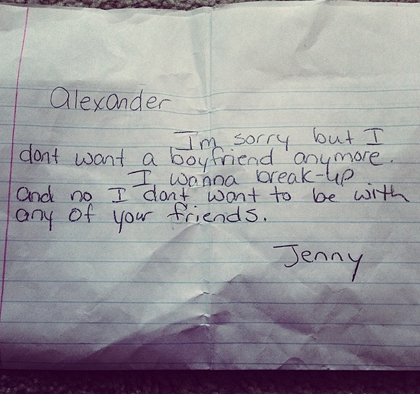 The 8 Funniest Kid Break Up Letters. They Really Have A Way With Words