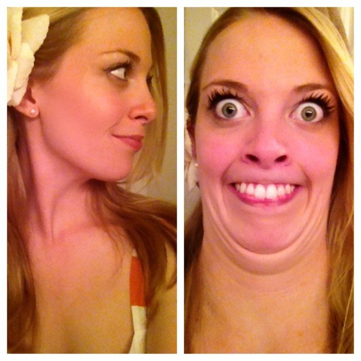Beautiful Girls Making Ugly Faces