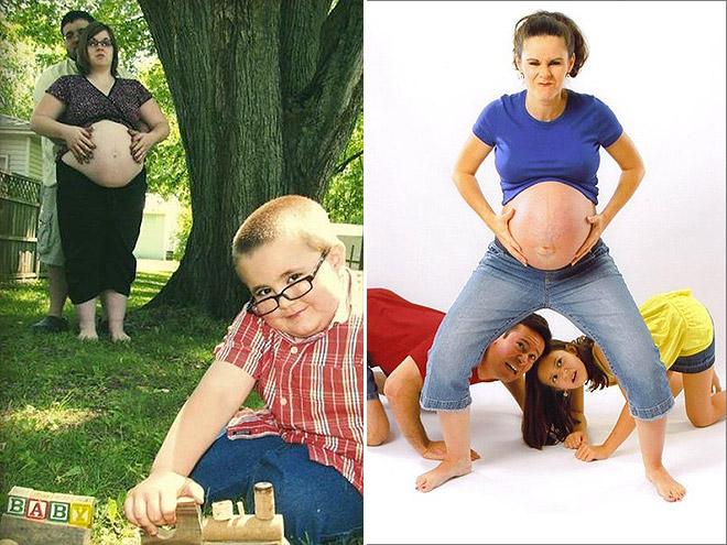 awkward maternity photos
