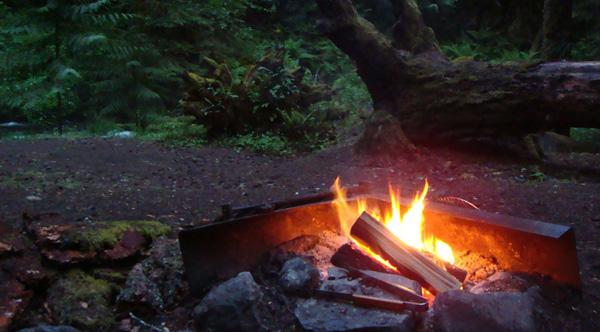 camping helps sleeping