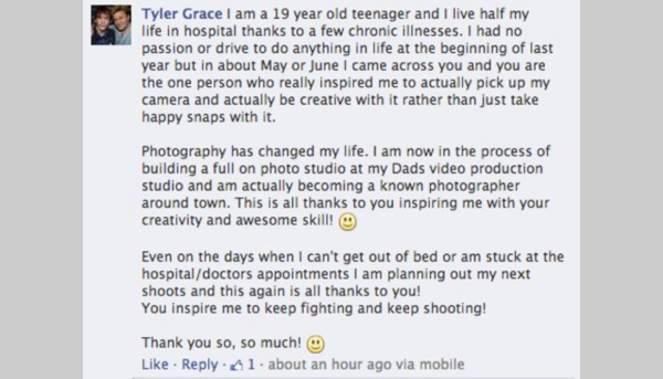 photographer shows up in box for birthday