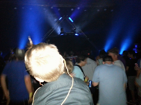 dad takes son to concert Daft Punk