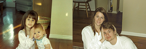 recreate old family photos