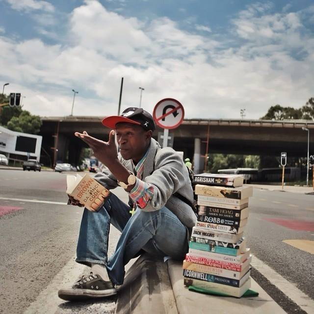 homeless man reviews books