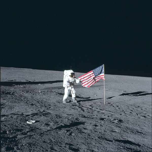 proof man on the moon